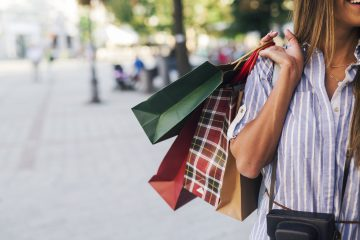 Pretty woman in shopping